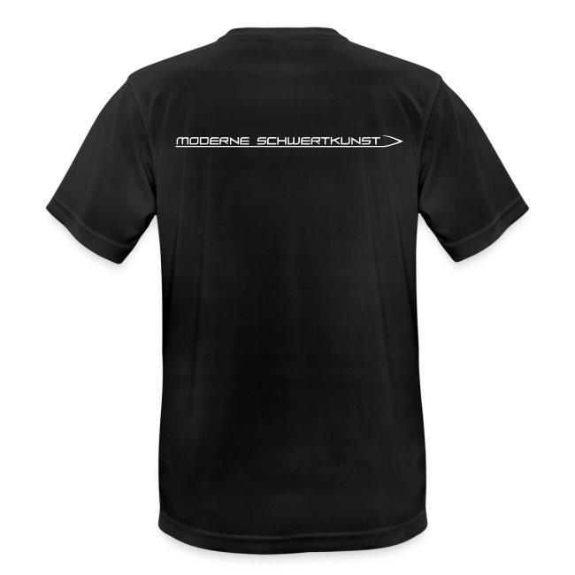 Atmungsaktives Sport-Shirt in schwarz für Männer