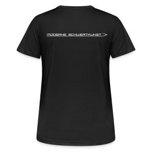 Atmungsaktives Sport-Shirt in schwarz für Frauen - Frauen T-Shirt atmungsaktiv