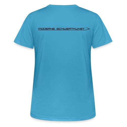Atmungsaktives Sport-Shirt in hellblau für Frauen - Frauen T-Shirt atmungsaktiv