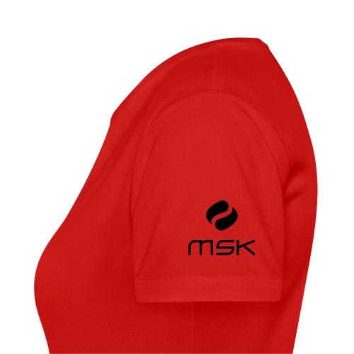 Atmungsaktives Sport-Shirt in rot für Frauen - Frauen T-Shirt atmungsaktiv