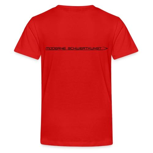 Teenager Premium T-Shirt mit Schwertkunst-Schriftzug - Teenager Premium T-Shirt