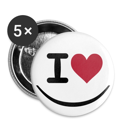 EMOT's I LOVE - Badge moyen 32 mm