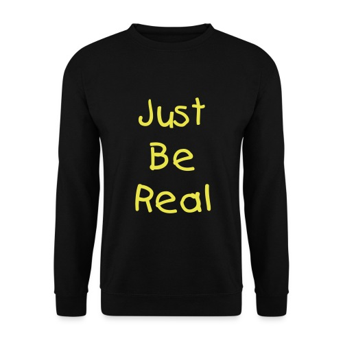 Mens Just Be Real Jumper (Black) - Men's Sweatshirt