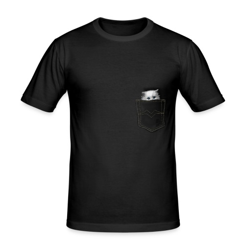 Mister Monsieur - Pocket Chat - T-shirt près du corps Homme