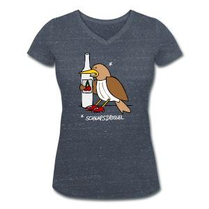 Schnaps-Drossel - Frauen Bio-T-Shirt mit V-Ausschnitt von Stanley & Stella