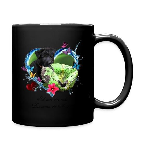 Black Puppy - Tasse einfarbig