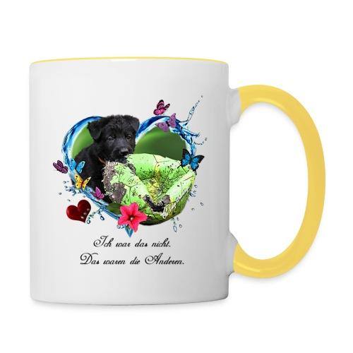 Black Puppy - Tasse zweifarbig