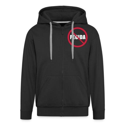 Verbotsschild Pegida Jacke NoPegida - Männer Premium Kapuzenjacke