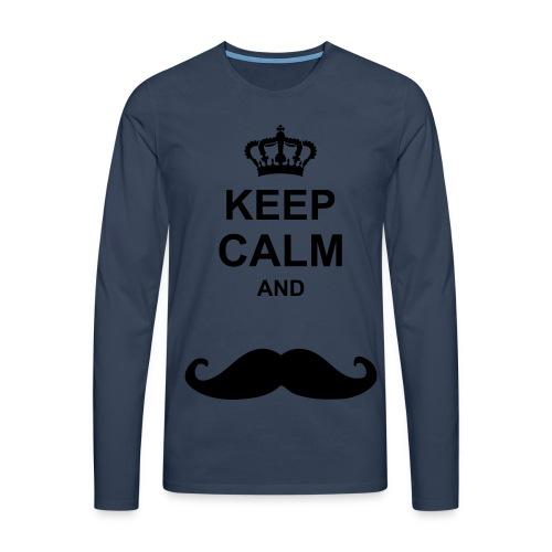 Keep Calm Langarmshirt - Männer Premium Langarmshirt