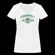 T-Shirts ~ Frauen T-Shirt mit V-Ausschnitt ~ Frauen 1964  - Shirt Weiß