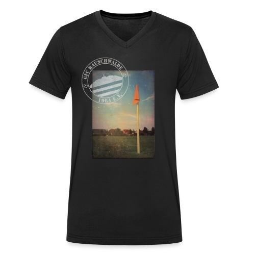 Männer Sportplatz  - V-Shirt Schwarz - Männer Bio-T-Shirt mit V-Ausschnitt von Stanley & Stella