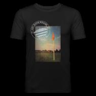 T-Shirts ~ Männer Slim Fit T-Shirt ~ Männer Sportplatz  - Shirt SLIM Schwarz