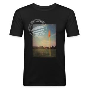 Männer Sportplatz  - Shirt SLIM Schwarz - Männer Slim Fit T-Shirt