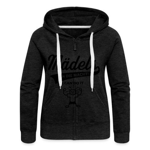 An Die Macht Sweatshirt - Frauen Premium Kapuzenjacke