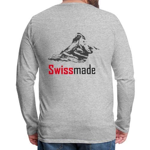 Swiss Made Matterhorn - T-shirt manches longues Premium Homme