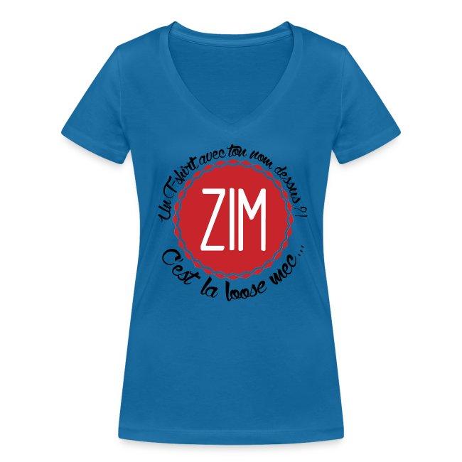 T-Shirt Col V Femme C'est la loose
