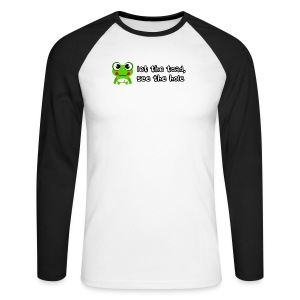 Let the toad see the hole slogan - Men's Long Sleeve Baseball T-Shirt