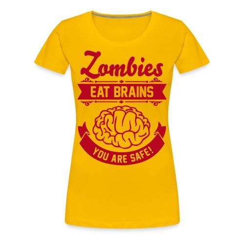 Frauen Premium T-Shirt - Zombie,Zocken,Spieler,Spiel,Skill,Play,PC,Online,Offline,Noob,Nerd,Loot,Level,Let's Shirt,Konsolen,Geschenk,Geek,Gaming,Gamer,Fressen,Essen,Computer,Cheats,Attacke,Apokalypse