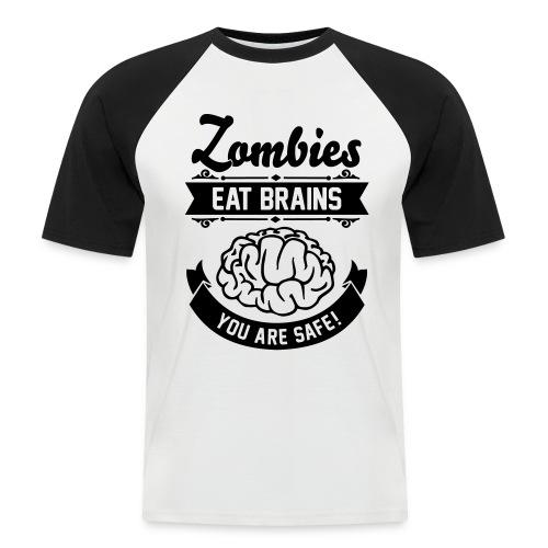 Männer Baseball-T-Shirt - Zombie,Zocken,Spieler,Spiel,Skill,Play,PC,Online,Offline,Noob,Nerd,Loot,Level,Let's Shirt,Konsolen,Geschenk,Geek,Gaming,Gamer,Fressen,Essen,Computer,Cheats,Attacke,Apokalypse