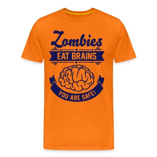 Männer Premium T-Shirt - Zombie,Zocken,Spieler,Spiel,Skill,Play,PC,Online,Offline,Noob,Nerd,Loot,Level,Let's Shirt,Konsolen,Geschenk,Geek,Gaming,Gamer,Fressen,Essen,Computer,Cheats,Attacke,Apokalypse