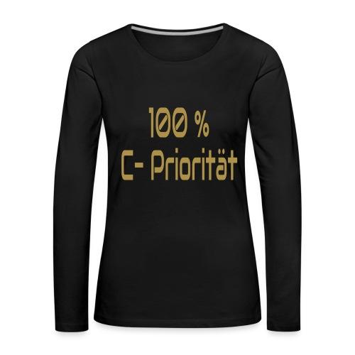 C-Priorität - Frauen Premium Langarmshirt