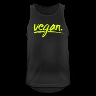 Sportbekleidung ~ Männer Tank Top atmungsaktiv ~ simply: vegan