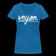 T-Shirts ~ Frauen T-Shirt mit V-Ausschnitt ~ simply: vegan