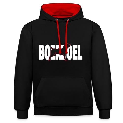 Boerboel Hooded - Kontrast-Hoodie