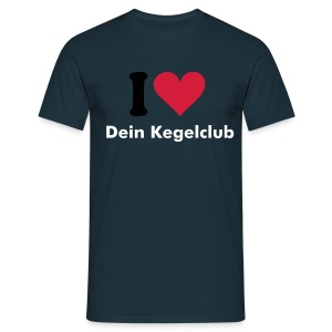 I love my Kegelclub - Customshirt - Herren - Männer T-Shirt