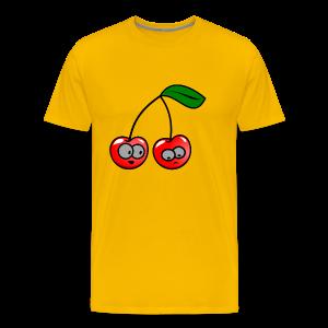 Smily Kirschen - Männer Premium T-Shirt