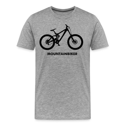 Mountainbiker T-shirt - Herre premium T-shirt