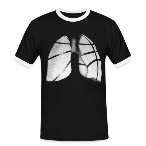 Respira baloncesto b/n - Camiseta contraste hombre