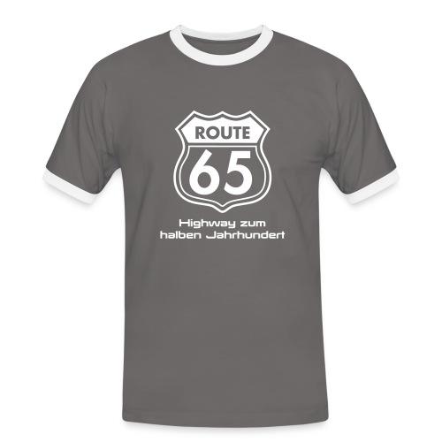 Herren Shirt Route 65 - Männer Kontrast-T-Shirt