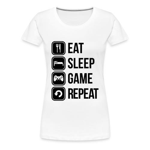 Repeat D - Frauen Premium T-Shirt