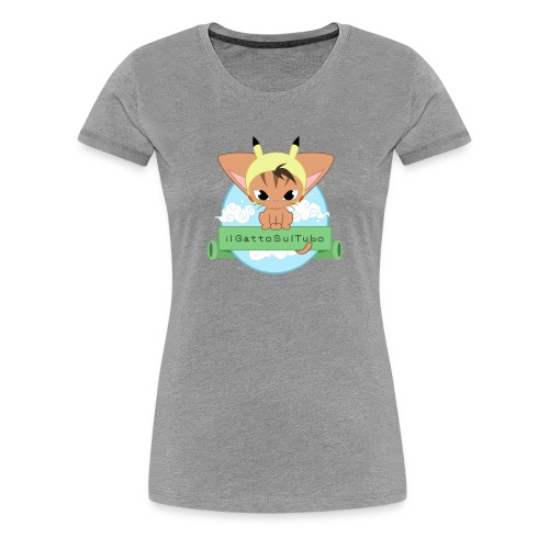 ilGattoSulTubo Donna Shirt - Maglietta Premium da donna