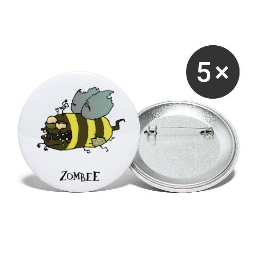 Zombee - Buttons mittel 32 mm (5er Pack)