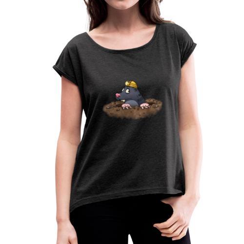 Maulwurf - Frauen T-Shirt mit gerollten Ärmeln