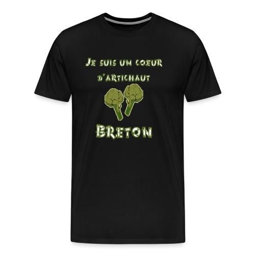 Je suis un coeur d'artichaut breton - T-shirt Premium Homme