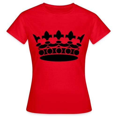 Krone klassisch groß - Damen - Frauen T-Shirt