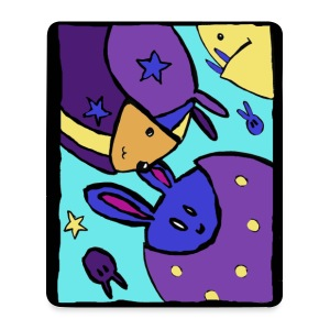 Space Bunnies - Mouse Pad (vertical)