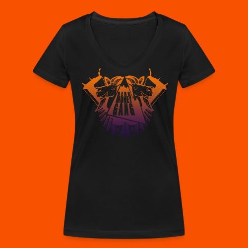 for gurls bmg b(l)unt - Frauen Bio-T-Shirt mit V-Ausschnitt von Stanley & Stella