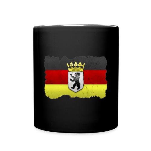 Berlin Wappen mit Deutschland Fahne in Stein gemeißelt Tasse - Tasse einfarbig