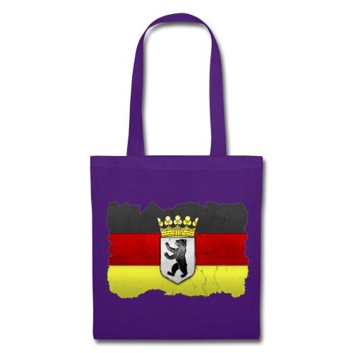 Berlin Wappen auf Deutschlandfahne in Stein gemeißelt Stofftasche - Stoffbeutel