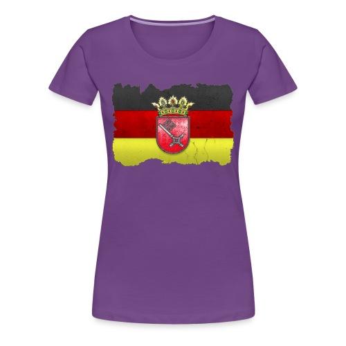 Bremen Wappen mit Deutschland Fahne in Stein gemeißelt Shirt - Frauen Premium T-Shirt