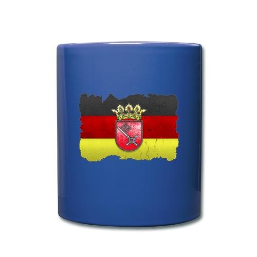 Bremen Wappen mit Deutschland Fahne in Stein gemeißelt Tasse - Tasse einfarbig