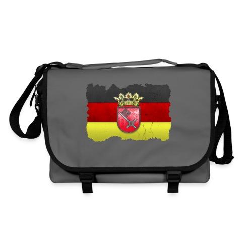 Bremen Wappen mit Deutschland Fahne in Stein gemeißelt Umhängetasche - Umhängetasche