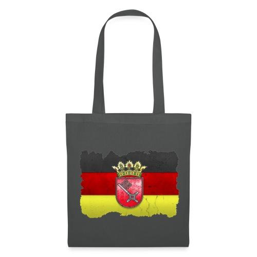 Bremen Wappen mit Deutschland Fahne in Stein gemeißelt Stofftasche - Stoffbeutel