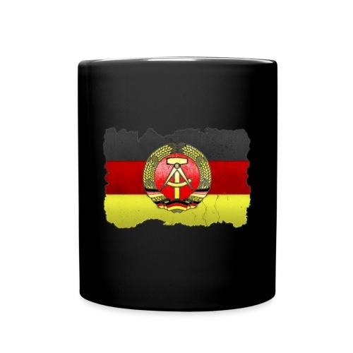 DDR Wappen mit Deutschland Fahne in Stein gemeißelt Tasse - Tasse einfarbig