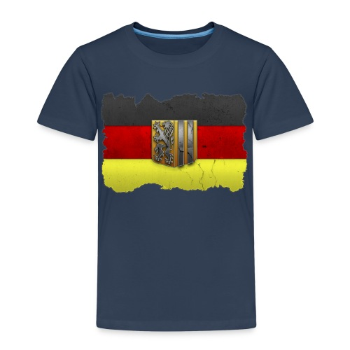 Dresden Wappen mit Deutschland Fahne in Stein gemeißelt Shirt - Kinder Premium T-Shirt