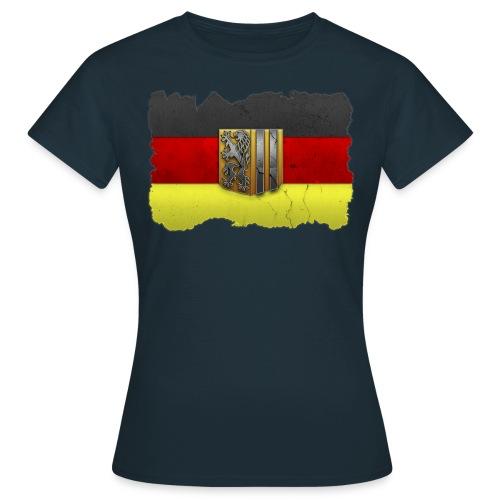 Dresden Wappen mit Deutschland Fahne in Stein gemeißelt Shirt - Frauen T-Shirt